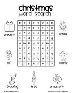 Celebrate Christmas with this fun Christmas Word Search!...