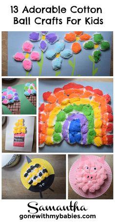 13+ adorable cotton ball kids crafts #kidscrafts #craftsforkids #craftsfortoddlers #kidsactivties #cottonballcrafts
