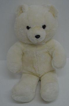 "Vintage Fun Farm Dakin Teddy Bear Plush Off White Stuffed Animal 21"" 1986 #Dakin http://stores.ebay.com/Lost-Loves-Toy-Chest/_i.html?image2.x=29&image2.y=12&_nkw=dakin"