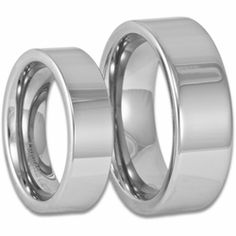 Men's and Women's Modern Matching Tungsten Wedding Ring Set. Engraving is available for this set at #ringninja. $109.99.