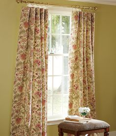 Hatfield lined rod pocket curtains, Country Curtains