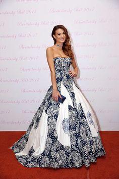 Carolina Miková in dress by Jana Gavalcová
