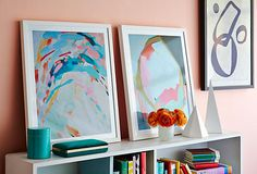 With captivating compositions and open-ended subjects, abstract and geometric artworks are remarkably versatile: They complement contemporary spaces while providing a beautiful counterpoint to more-traditional decor. This selection includes a range of styles, from soft and meditative to bold and dynamic.