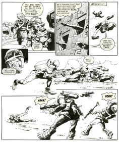 Cam Kennedy - Rogue Trooper - 2000AD Prog 288, page 24 Comic Art