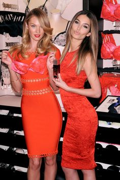 Candice Swanepoel and Lily Aldridge posed in pink and red for Valentine's Day Informations About Lily Aldridge and Candice Swanepoel Prep For Valentin Cute Dresses, Casual Dresses, Short Dresses, Prom Dresses, Dress Prom, Dress Long, Pink Dress, Victoria Secret Lingerie, Victoria Secret Fashion Show