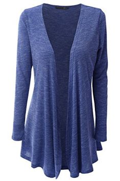 LosLiss Womens Open Front Draped Knit Long Sleeve Cardigan (Plus Size Available) Review