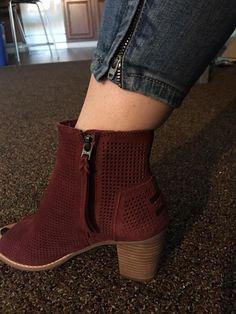 TOMS Majorca Perforated Peep Toe Booties from Stitch Fix. https://www.stitchfix.com/referral/4292370