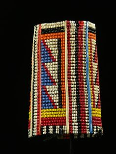 Africa | A beaded bracelet from the Masai people in Kenya | This is a recent piece, not older than 5 yrs.