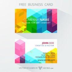 Modern company business card