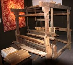 English, Scottish, and German weaving on a loom
