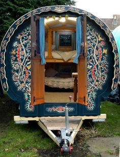 Greg and Jules Gypsy Bowtops specialise in hiring beautiful handmade and hand painted gypsy caravans for weddings and festivals. bringing the magic to your event. Gypsy Trailer, Gypsy Caravan, Gypsy Wagon, Gypsy Life, Gypsy Soul, Shepherds Hut, Bus Life, Vintage Gypsy, Camping Glamping