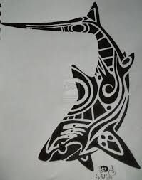 Bildergebnis für tribal whale shark tattoo design