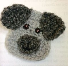 D is for Dog: Crochet Dog Applique - Repeat Crafter Me Crochet Bear, Crochet Gifts, Cute Crochet, Crochet Animals, Crochet Toys, Knitted Dolls, Crochet Applique Patterns Free, Cat Applique, Crochet Motif