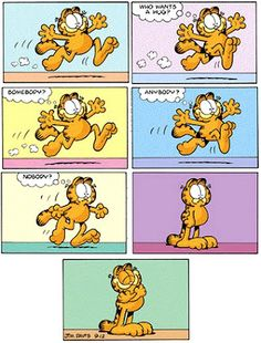 A big Garfield hug Garfield Quotes, Garfield Cartoon, Garfield And Odie, Garfield Comics, Garfield Pictures, Funny Cartoons, Funny Cats, I Hate Mondays, Autumn Illustration
