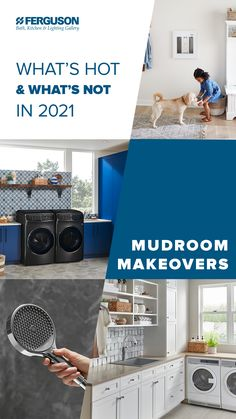 The new year brings new projects to tackle, and we're here to help modernize mudrooms everywhere with a sneak peek at the latest trends in laundry room looks. Laundry Nook, Mudroom Laundry Room, Laundry Room Design, Laundry Solutions, Buy Stuff, Chore List, House Inspirations, Diy Home Repair, Mud Rooms