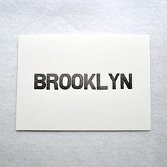 Brooklyn Letterpress Print | Heartfish Press
