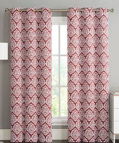 Love This Red Brody Medallion Blackout Curtain Panel   Set Of Two By  Victoria Classics On