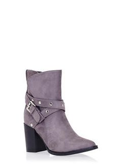 Ankle Boots with Buckle Accent - 1113073112695. Rainbow ShopWomen's ...