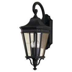 Feiss, Cotswold Lane 3-Light Outdoor Black Wall Lantern, OL5402BK at The Home Depot - Tablet