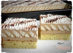 | TopReceptek.hu Hungarian Cake, Hungarian Recipes, Puding Cake, German Desserts, Cake Recipes, Dessert Recipes, Cold Desserts, Healthy Breakfast Smoothies, No Bake Cake