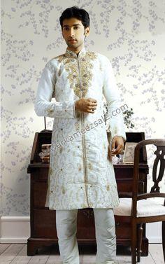 sherwani white