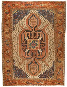 Antique Bakhshaish Carpet Situated in the mountainous region 60 miles east of the large city of Tabriz, Bakhshaish is the oldest rug weaving village in the district of Heriz Persian Motifs, Persian Rug, Beige Carpet, Persian Carpet, Carpet Runner, Modern Rugs, Rugs On Carpet, Buy Carpet, Soft Furnishings