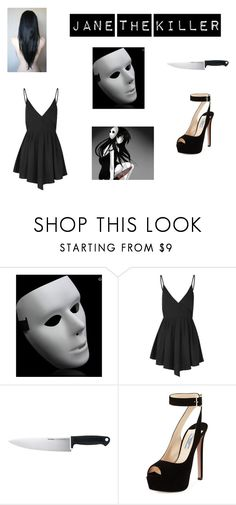 """""""jane the killer"""" by bloop-candy ❤ liked on Polyvore featuring Glamorous, Kershaw and Prada"""