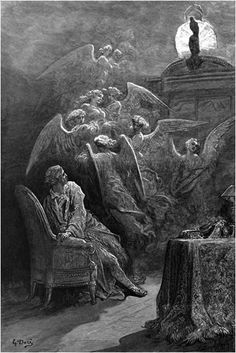 Respite and nepenthe from thy memories of Lenore... Gustave Doré: The Raven Illustrations