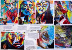 Starting with an artist of inspiration.. French palette knife painter, Francoise Nielly and then experimenting with students' own style