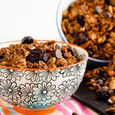 Quick and easy to make, this homemade chocolate cherry granola is a fantastic breakfast or snack, and it's healthier than the store kind!