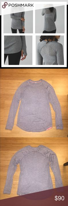 Lululemon Gray Sunshine Coast LS 6 EUC Lululemon Sunshine Coast Long Sleeve Shirt in gray. Size 6. Price is firm but cheaper on Mercari (@af022). Also available in other colors - check out my other listings. Gently worn and in excellent condition. Made with Boolux fabric - a blend of cashmere, TENCEL and rayon from bamboo. Incredibly soft and cozy. Thumbholes. Slim fit, hip length. No trades. Happy shopping! lululemon athletica Tops