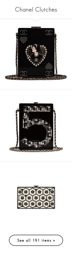 """""""Chanel Clutches"""" by sakuragirl ❤ liked on Polyvore featuring bags, handbags, clutches, chanel, purses, chanel clutches, chanel purse, handbags clutches, hand bags and man bag"""