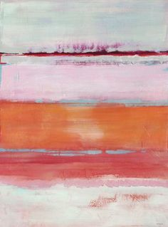 """Persimmon Jump"" by Jill Martin. 30"" x 40"" Acrylic on Canvas"