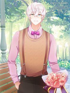 """sorry i was late"" IG - mayuiki-art What Is Mystic Messenger, Mystic Messenger Unknown, Mystic Messenger Fanart, Saeran Choi, Inside Art, Anime Weapons, Shall We Date, Cute Love, Anime Guys"