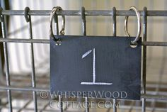 make your own chalkboard tags (from old business cards)