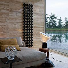 White, Wood And Charcol — urbnite:   Taccia Lamp by Achille Castiglioni for...