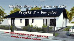 Vaše vysnívané bývanie Váš nový domov: Projekt 5 - 4 izb. bungalov. Inford800@gmail.com +421 908 762 654 Ponúkame výstavbu rodinných domov- nízkoenergetických bungalovov, ktoré spájajú komfort, kvalitu stavebných konštrukcií, energetickú a finančnú úspornosť, efektivitu. • Len za 800,-€/m2 úžitkovej plochy. • GENESIS – to je projekcia a realizácia v jednom. Dom na kľúč je nízkoenergetický bungalov realizovaný z kvalitných materiálov, zhotovený s citom pre detail, servis a inžiniering.