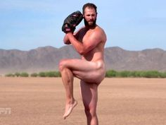 """Today we learned not only is Chicago Cubs' Jake Arrieta in ESPN Magazine's """"Body Issue,"""" he's on the cover. The pitcher and National League Cy Young winner will be front and center – and naked – when the issue hits newsstands July Cubs Win, Go Cubs Go, Chicago Cubs Baseball, Body Issues, Papi, Athletic Men, Baseball Players, Cubs Players, Fotografia"""