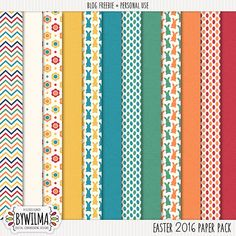 FREE Freebie Easter 2016 Paper Pack by Wilma (link expires on 22 April 2016)