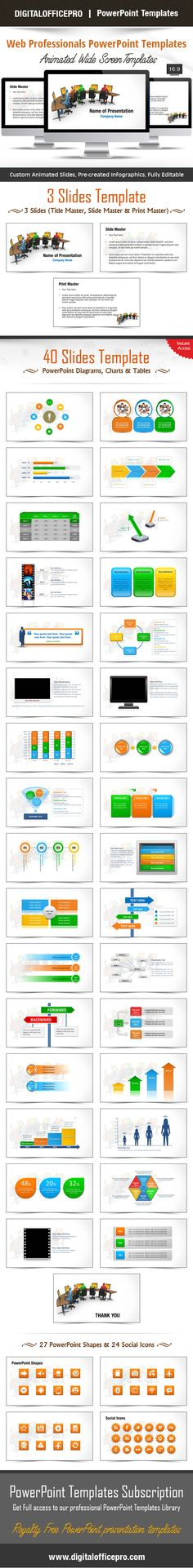 Simple powerpoint template with clean and elegant easy to edit impress and engage your audience with web professionals powerpoint template and web professionals powerpoint backgrounds from toneelgroepblik Choice Image