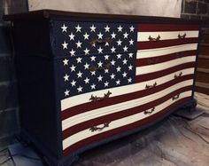 The Waving American Flag Dresser by Artisan8 on Etsy