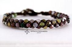 MyChau Vietnam | Weaving Bracelet - Moss Agate Metal: Silver Precious gemstones: Moss Agate http://www.patriciapapenberg.com/default/mychau-vietnam-weaving-bracelet-moss-agate #jewels #jewelry #bracelets #bracciali #gioielli