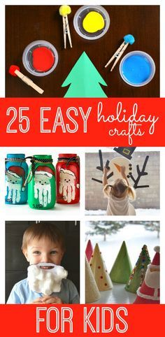 Easy Christmas crafts for kids! Looking for a fun and unique way to countdown to the Christmas?  Why not try a crafty holiday countdown with these 25 easy holiday crafts for kids!