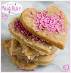 Valentine's Day Heart Sugar Cookies.