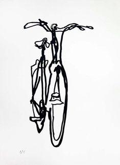 Bicycle Art Print Crescent Bike on Nideggen by bicyclepaintings - Fahrrad Bike Design, Design Art, Interior Design, Bike Drawing, Bike Tattoos, Bicycle Tattoo, Tatoos, Bike Illustration, Bicycle Painting