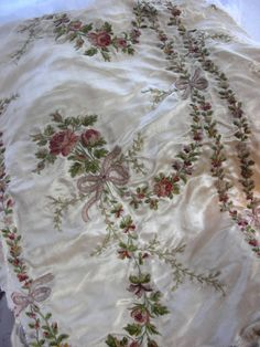 18th century French silk embroidery