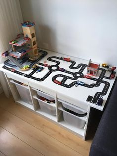 Boy Toddler Bedroom, Kids Bedroom, Cardboard Crafts Kids, Car Themed Bedrooms, Kids Activities At Home, Playroom Design, Toy Rooms, Diy Furniture Projects, Kids And Parenting