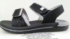 """DUDUTÊNIS"" http://produto.mercadolivre.com.br/MLB-706832516-sandalia-guga-neo-sand-baby-pretocinza-_JM"