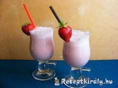 Joghurtos eperturmix | Receptkirály.hu Hurricane Glass, Tableware, Yogurt, Dinnerware, Tablewares, Dishes, Place Settings
