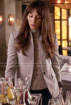 Spencer's grey blazer on Pretty Little Liars. Outfit Details: https://wornontv.net/58605/ #PLL